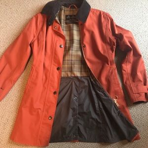 Barbour VTG wax waterproof orange Newmarket Jacket